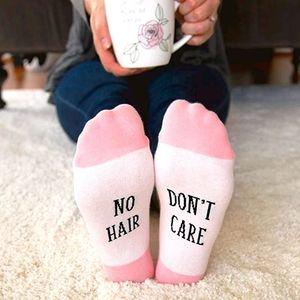 NO HAIR DONT CARE ~ WARRIOR SOCKS